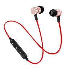 Stereo Super Bass Wireless Bluetooth Earphone - Red