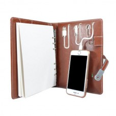 Executive Leather Diary with 10000mAh Power Bank with 8gb Pendrive