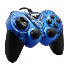 Usb Gamepad Double Shock Joystick Controller Dw003 - Black and Blue