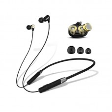 Lenovo HE08 Dual Dynamic Bluetooth Neckband In Ear Earbuds with Mic