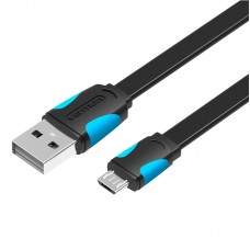 VENTION Flat USB2.0 A Male to Micro B Male Cable 1.5M Black VAS-A08-B150