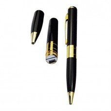 Spy Pen Camera HD Support 32 GB Memory Card Hidden Camera Pen - Black and Golden