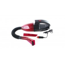 Handheld Car Vacuum Cleaner with LED Light - Red