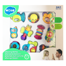 Hola Rocking Rattles 10 models assorted/10 pcs in box 939