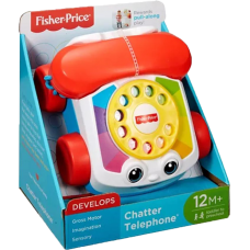 Fisher Price Pull Along Chatter Toy Telephone-2