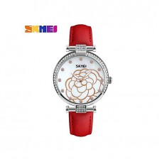 9145 - Red Leather Analog Watch for Women