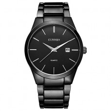 Curren 8106 - Stainless Steel Analog Watches for Men - Black