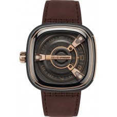 M2/02 M-Series Leather Automatic Watch for Men - Gray and Rose Gold