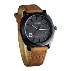 WRM01 - PU Leather Wrist Watch For Men - Brown