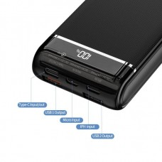 REMAX MUSA RPP-107 PD + QC 10,000MAH FAST CHARGING EXECUTIVE STANDARD POWER BANK WITH 3 INPUTS 2 OUTPUTS